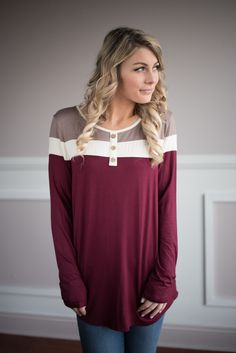 Open Minded Top ~ Burgundy – The Pulse Boutique