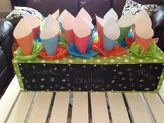 Cute DIY for kids birthday party. Fill cones with popcorn, candy, etc. Popcorn Holder, Cute Diys, Most Favorite, Invite Your Friends, Diy For Kids, Emoji, Fill, Birthdays, Parties