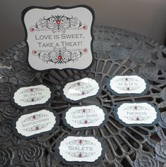 Candy Buffet tags from www.wreathartist.etsy.com