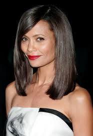 I always loved this haircut on Thandie Newton. #bob #bangs #Thandie #Newton
