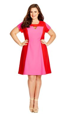 this could make a really cute retro flight attendant outfit // Plus Size Super Pop Dress