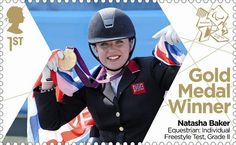 Large image of the ParalympicsGB Gold Medal Winner Miniature Sheet - Natasha Baker Royal Mail Stamps, Uk Stamps, Postage Stamps, Gold Medal Winners, Asian Games, Commonwealth Games, Team Gb, Summer Olympics, Famous Women