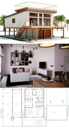 planos de casas en zona urbana
