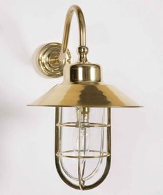 WheelHouse Exterior wall light In solid Brass