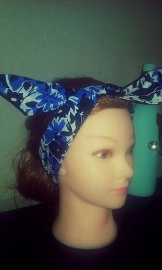 Pin up style, vintage inspired wired bandana headbands. Www.scottsmarketplace.com/shop/fiercedesignsco