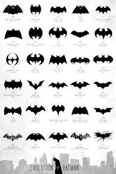 batman logo silhouettes