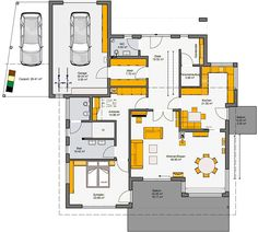 Prefabricated house Travetto Floor plan EC by dorkasmk Best House Plans, Modern House Plans, Delta House, Floor Plan Layout, Study Architecture, House By The Sea, Prefabricated Houses, Sweet Home Alabama, Easy Home Decor