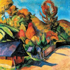 Ziffer Sándor --- The Building of the Mint in Baia-Mare, 1934 Paintings, Prints, Image, Buildings, Autumn, Google, Artists, Art, Big Cats