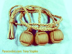 "Great paracord bolas! 1.5"" diameter steel ball insert."