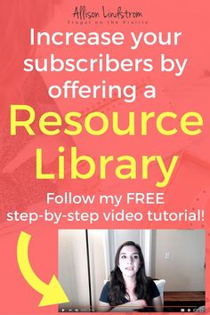 Step-by-Step guide to growing your email list by offering your readers a free resource library of exclusive content.