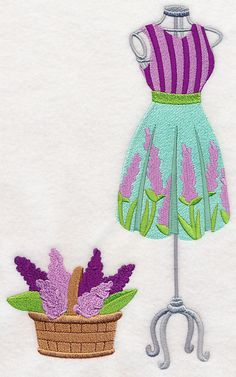 Lilacs Dress Form