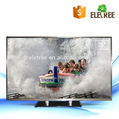 KT-770 80 inch LED Widescreen Full HDTV Television with HD-MI/USB Input 1080p can add Android system smart tv with vga output