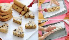 Sušenky ve tvaru srdíčka bez vykrajovátek