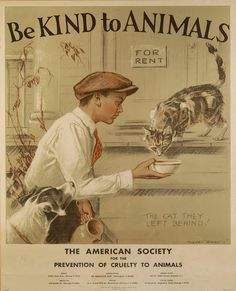 Adorable Vintage Posters Promoting Kindness to Animals During The 1930's