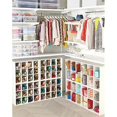 This beats having shoes sprawled out all over the bottom of your closet! I love these stackable organizers especially for kids shoes! $40 for 24 pairs of shoes for kids or 12 pairs for adults! The Container Store > 12-Pair Shoe Organizer