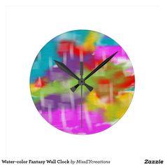 horloge murale d'imaginaire d'Eau-couleur