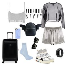 """""""Başlıksız #38"""" by selin02 ❤ liked on Polyvore featuring Tommy Hilfiger, Yves Saint Laurent, Maria La Rosa, Casetify, Current Mood and Victorinox Swiss Army"""