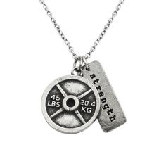 CrossFit Jewelry! 45lb Weightplate w/Strength Charm