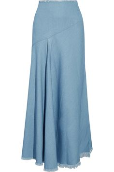 Shop on-sale Marques' Almeida Frayed stretch-denim maxi skirt. Browse other discount designer Skirts & more on The Most Fashionable Fashion Outlet, THE OUTNET.COM