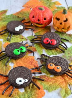 20 Trendy Snacks For Party Birthdays Cute Ideas Halloween Snacks, Oreo Halloween, Halloween Spider, Holidays Halloween, Easy Halloween, Halloween Crafts, Halloween Party, Easy Desserts For Kids, Cupcakes Wallpaper