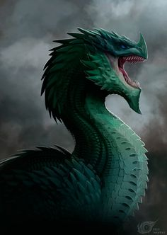 fantasy, design, game, irenbee, dragon, eldras, green, digital, dwiifelon, artbook