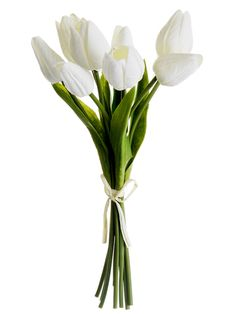 White Real Touch Tulips | Faux Tulip Sale at Afloral