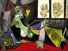 Pablo Picasso. Femme allongee sur un divan (Dora Maar). 1939 year