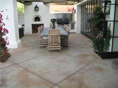 Concrete Patios Artcon Decorative Concrete Hamilton, MT - All For Garden Colored Concrete Patio, Concrete Patio Designs, Cement Patio, Wood Patio, Concrete Patios, Decorative Concrete, Stamped Concrete, Concrete Backyard, Small Backyard Patio