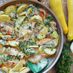 Creamy Chicken and Summer Squash  http://cleanfoodcrush.com/creamy-chicken-and-squash