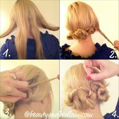 This easy twist and pin tutorial is the perfect style for many hair lengths.