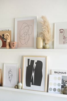 room decor Art pictures - tips on styling a picture ledge Ikea Picture Ledge, Picture Shelves, Picture Ledge Bedroom, Mosslanda Picture Ledge, Photo Ledge, Gallery Wall Bedroom, Home Office Decor, Home Decor Kitchen, Home Decor Bedroom