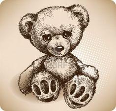 Teddy Bear Hand drawing. Stock Photo - 11747236