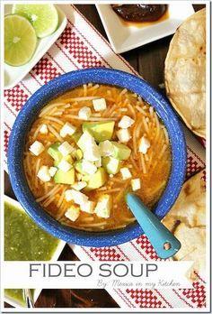 Sopa de Fideos - Mexico in my Kitchen