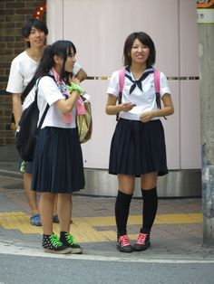 Sneaker School Girl - Umeda, Osaka   Flickr - Photo Sharing!