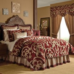 Quiet shabby chic bedding boho read here Yatak Odası Bedroom Comforter Sets, Red Bedding, Queen Comforter Sets, Luxury Bedding Sets, Chic Bedding, Brown Comforter, Unique Bedding, Modern Bedding, Bedroom Red