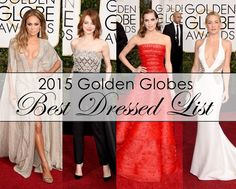 2015 Golden Globes Best Dessed List