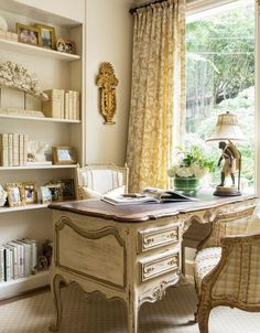 French country style country home offices (11)
