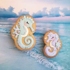 Galleta caballito de mar con glasa real Seahorse cookies with royal icing Apetece.com