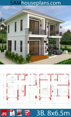 House Plans With 3 Bedrooms - Sam House Plans House Plans With 3 Bedrooms - House Layout Plans, Duplex House Plans, Family House Plans, Bedroom House Plans, Dream House Plans, House Layouts, House Floor Plans, Dream Houses, 2 Storey House Design