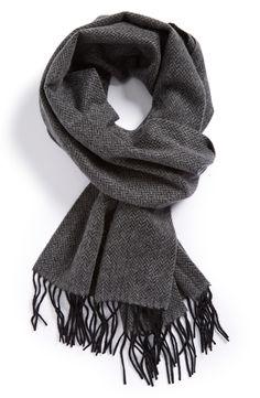 Will be borrowing his herringbone cashmere scarf this season!