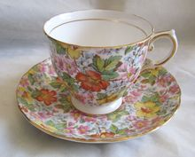 Vintage Chintz Tuscan Fine English Bone China Cup and Saucer