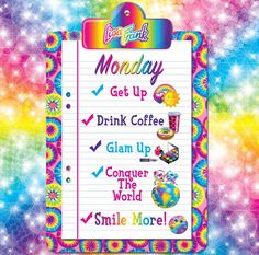 Inspiration from the Lisa Frank Facebook page.