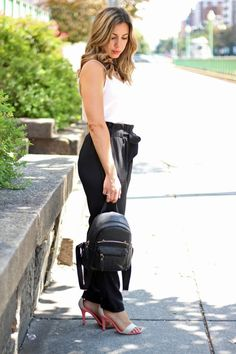Fancy Joggers and a Kitty Backpack, Make Me Chic, Glassofglam.com
