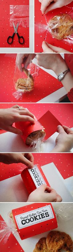 65 Ideas Cookies Packaging Diy Products For 2019 Bakery Packaging, Gift Packaging, Packaging Ideas, Diy Cookie Packaging, Packaging Design, Homemade Gifts, Diy Gifts, Christmas Cookies, Christmas Diy