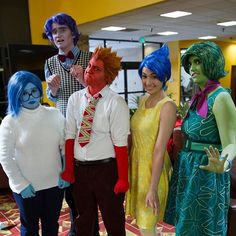 Pin for Later: 35+ Pixar Costumes to Make Your Halloween Bright and Terrific Disgust, Joy, Anger, Fear, and Sadness — Inside Out