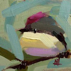 Ruby Crowned Kinglet no. 21 Original Bird Oil Painting by Angela Moulton pre-order Bird Artwork, Bird Paintings, Acrylic Paintings, Bird Feathers, Art Studios, Art Inspo, Illustration Art, Fine Art, Drawings