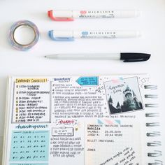 """studyrelief: """" [ summer days 5/? + taken from my instagram ]  so … this started off as a scrapbook but it's evolved into a journal/bullet journal, which was surprising but i like the way it's turned out! i should be able to post the complete page..."""