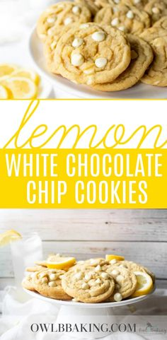Chocolate Oats, White Chocolate Chip Cookies, Chocolate Chip Recipes, Easy Cookie Recipes, Baking Recipes, Cookies From Scratch, Lemon Cookies, Lemon Desserts, Stick Of Butter