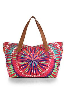 Mara Hoffman Leather-Trimmed Canvas Tote Bag