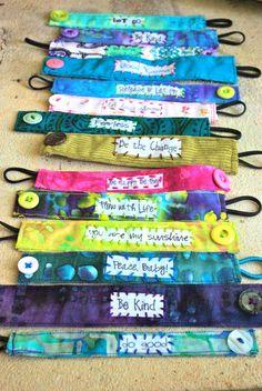 DIY Fabric Bracelets   fabric bracelets